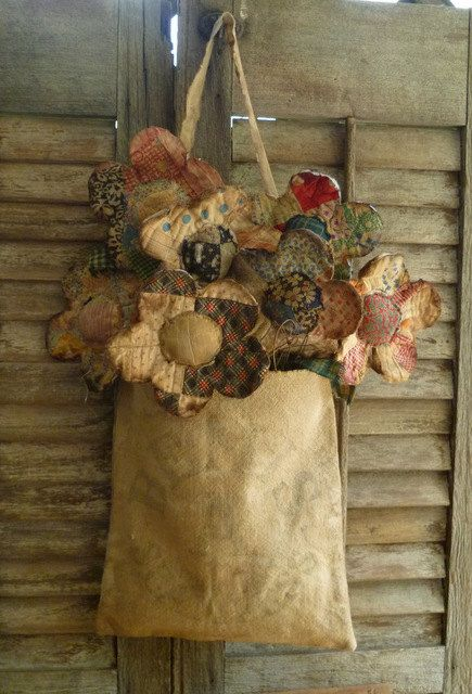 Primitive Quilt Flowers with Bemis feed by FolkArtandPrimitives