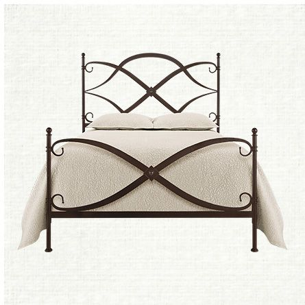 St Lucia Queen Iron Bed In Rust | Arhaus Furniture