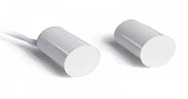 Λευκή χωνευτή μαγνητική επαφήMC03R-W   Μαγνητική επαφή Διαστάσεις 18x10mm 28V-0.5A GAP 1.8 cm Λευκή