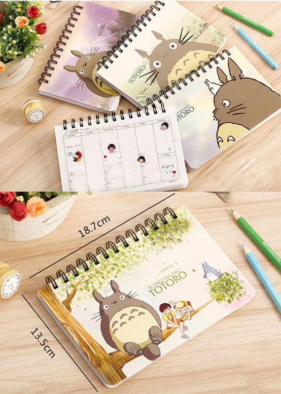 Studio Ghibli Totoro Study planner for kids, Cute notebook Kids Stationery for kids, Kids gift for kids, Kawaii Stationary School Supplies
