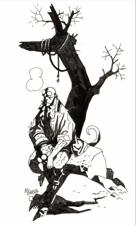Hellboy pin-up