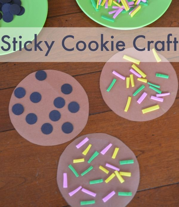 Make sticky cookies! Love this craft for preschoolers and toddlers!