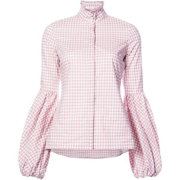 41272c5a5ae Caroline Constas checkered shirt (10