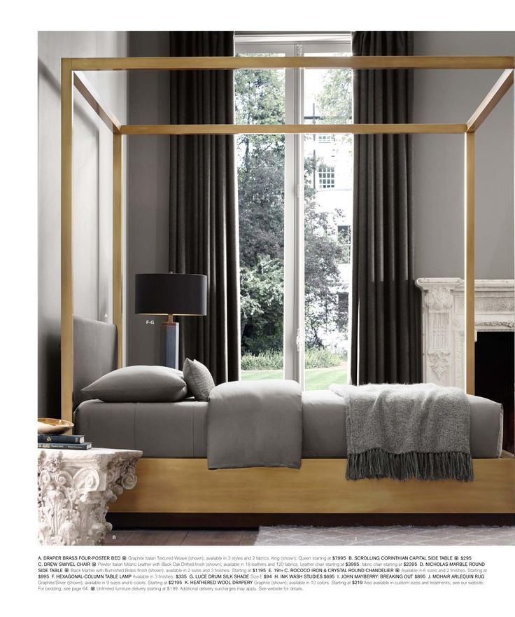 Metallic Masculine Bedroom: 663 Best Restoration Hardware Images On Pinterest