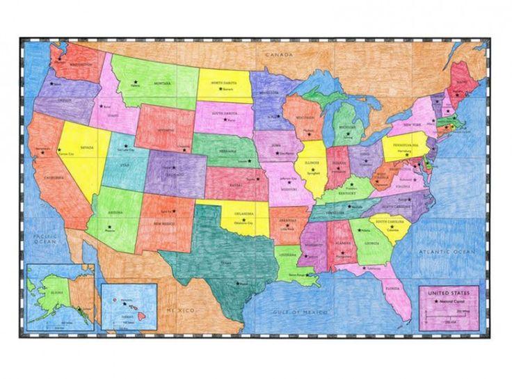 Best APFK PDF Shop Images On Pinterest Art Project For Kids - Usa map pdf