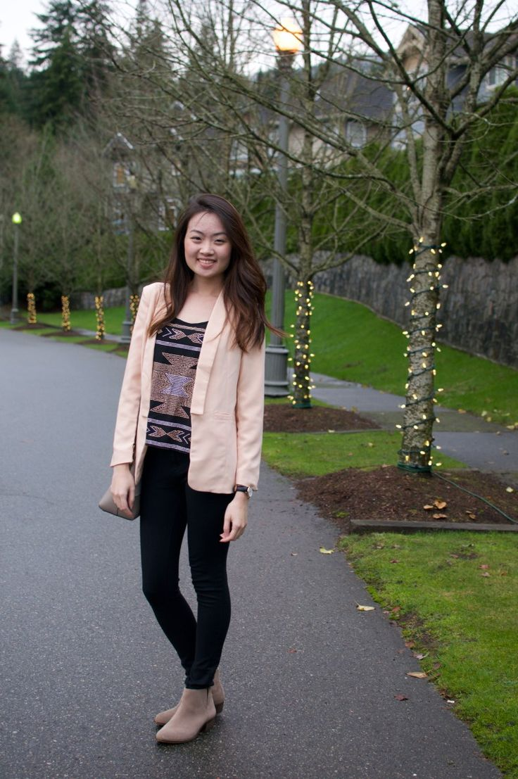 Blushing Peachy Pink Blazer – Little Limelight