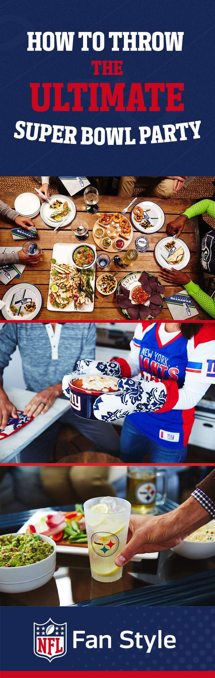 How can you throw the ultimate Super Bowl 50 party? We have a few ideas: food, fashion, and fandom.