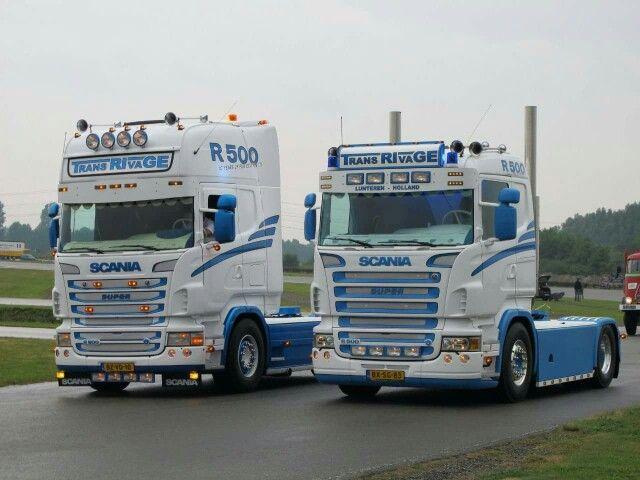 2X scania super R 500. V8.    .Trans RTvaGE