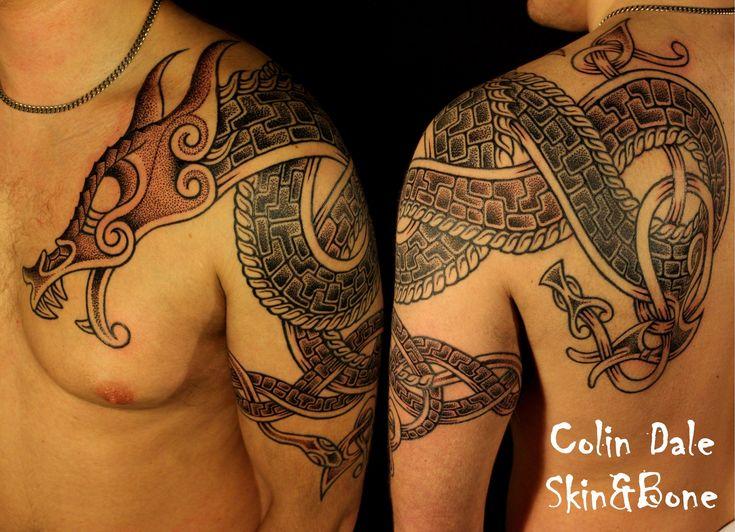 Pics For > Viking Dragon Tattoo