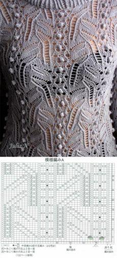 Ажурные узоры для вязания спицами. Схемы вязаных спицами образцов узоров   Домоводство для всей семьи.