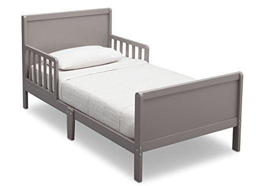Delta Children Fancy Toddler Bed, Grey