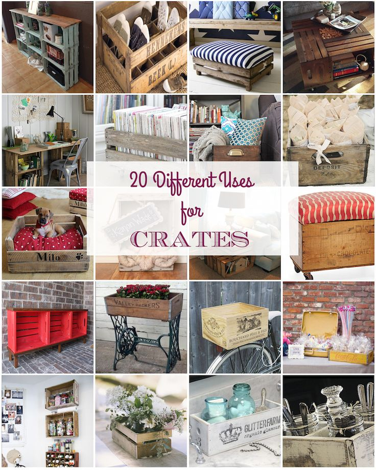 I am cleaning my crafting room and I've used some wood to make some crates and…