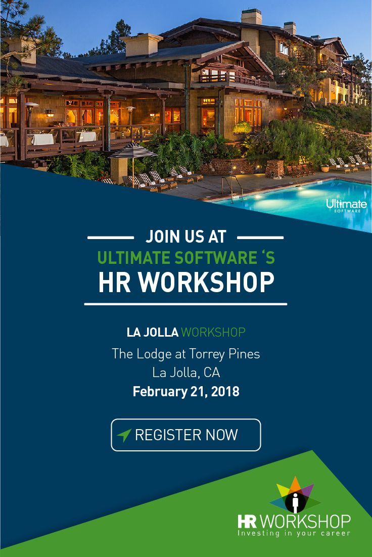 Join us February 21st in La Jolla, CA as we kick-off another year of dynamic, educational, and free HR & payroll workshops! High-level HR executives from well-known companies, as well as a labor attorney from a prestigious firm, will discuss innovative tools and strategies you can use to improve your organization. Get the full agenda here: http://ulti.pro/2muR8ns