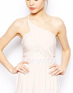 Embellished Maxi Dress With One Shoulder