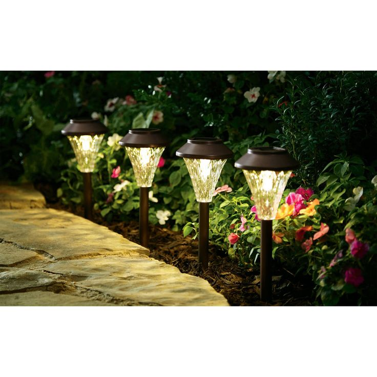 Solar Lighting Set Patio Garden Lights Outdoor Pathway Landscape Backyard 8-Pcs  #SolarLightingSet