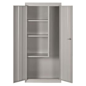 Stationary Storage Cabinet: Stand Alone, Combo Cabinet, Std, Keyed, Steel, 3 Shelves, 66 in Overall Ht, 30 in Overall Wd