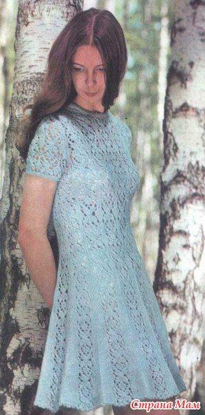 Расклешенное ажурное платье - Страна Мам