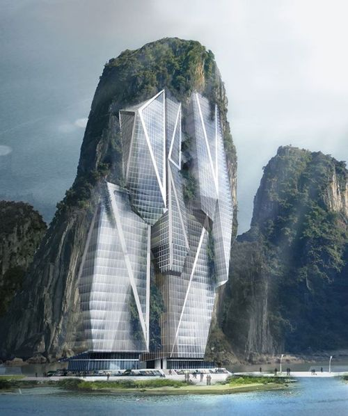 #architecture_hunter Concept of limestone skyscrapers mould into the natural Karst terrain. 3D Images by Jethro Koi Lik Wai and Quah Zheng Wei Courtesy of eVolo - Architecture and Home Decor - Bedroom - Bathroom - Kitchen And Living Room Interior Design Decorating Ideas - #architecture #design #interiordesign #homedesign #architect #architectural #homedecor #realestate #contemporaryart #inspiration #creative #decor #decoration