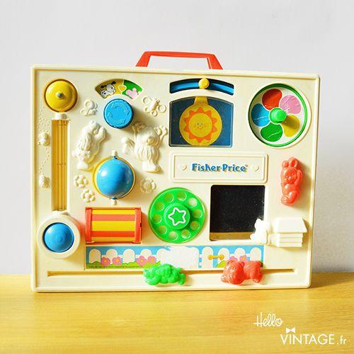Fisher Price activity center, tableau d'activité jouet d'éveil vintage pour bébé - Hello Vintage shop