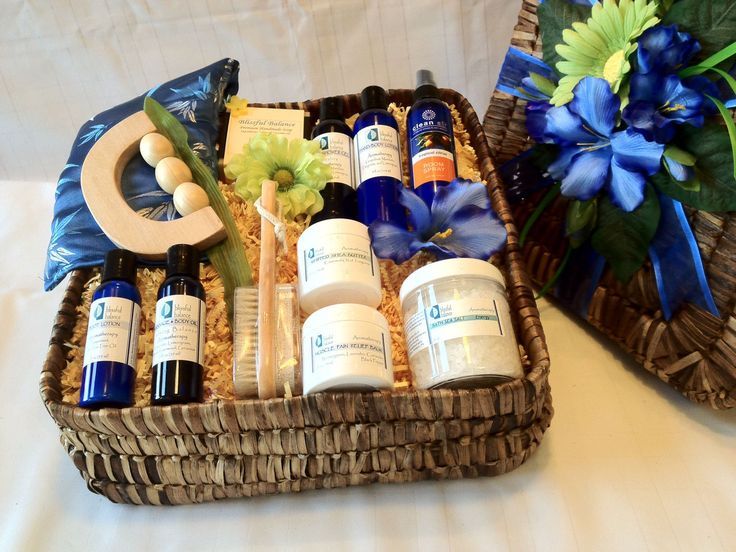 "Spa Gift Basket For Men: Now he can relax after a long day at work or at the gym with this amazing spa collection for men. A warm soothing bath with our therapeutic sea salts, the all ""Calming Balance"" massage/body oil with the tension relieving wood massager, and the healing muscle balm will help him to unwind and revitalize his body and mind.  http://www.blissfulbalance.com/spa-gift-basket-for-men/"