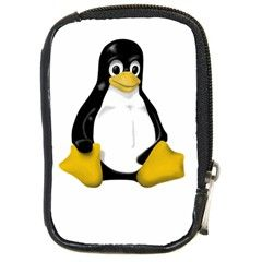 LINUX TUX CONTRA SIT Compact Camera Leather Case by youshidesign