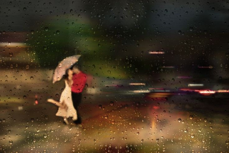 Water Dancer love photography kiss rain night couple