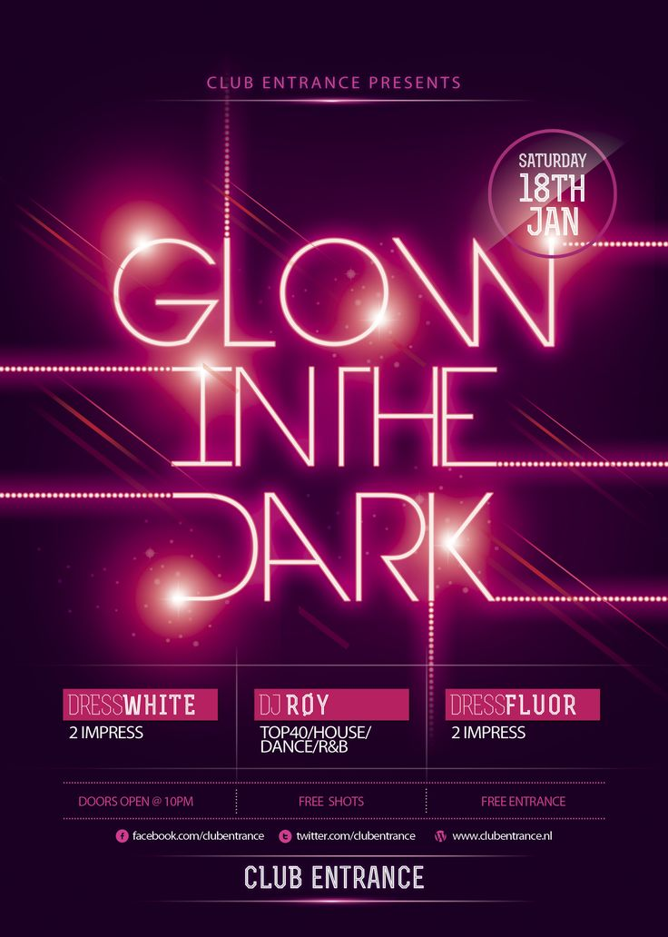 glow party flyer template - Buscar con Google