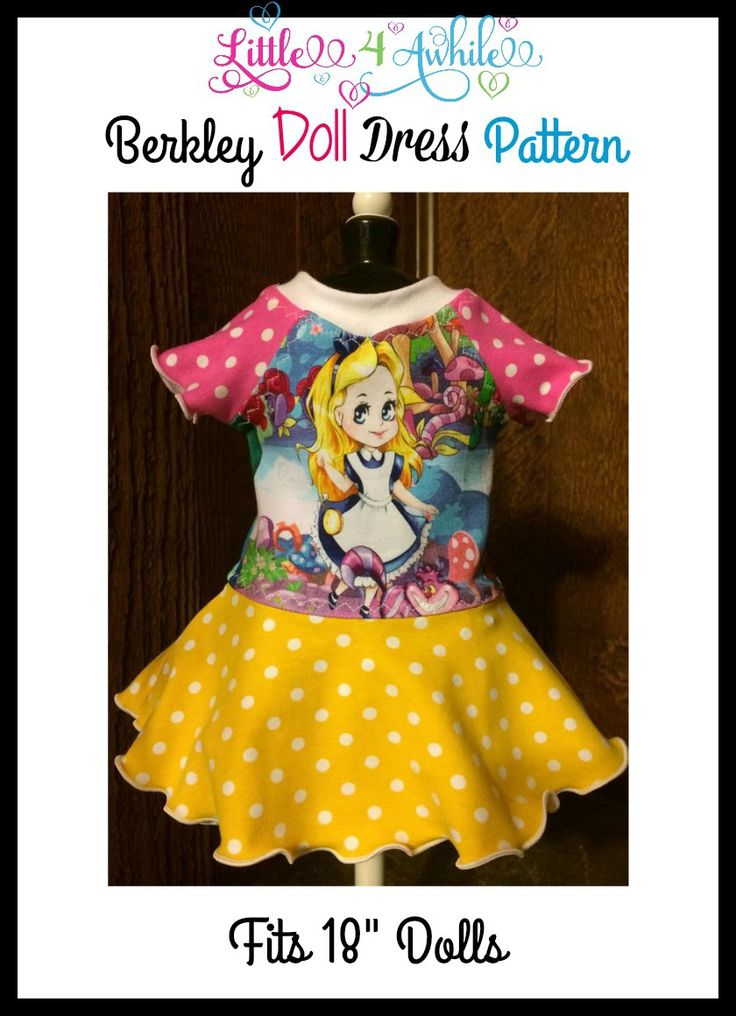 Free Berkley Doll Dress PDF Sewing Pattern by Little 4 Awhile