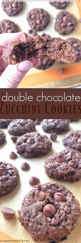 Double Chocolate Zucchini Cookies - Together as Family
