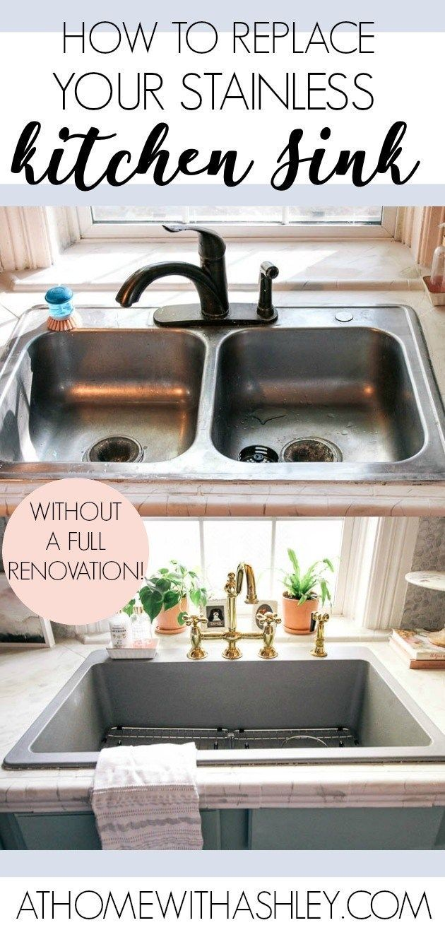 How To Upgrade Your Kitchen Sink At Home With Ashley Best Kitchen Sinks Replacing Kitchen Sink Diy Kitchen Remodel