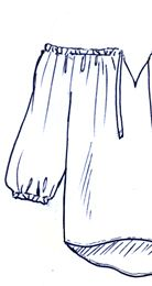 Molde 214 - Blusa Ciganinha