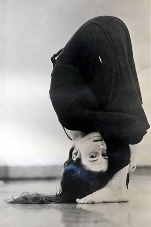 1970: Meredith Monk, an American composer & film maker practicing yoga…