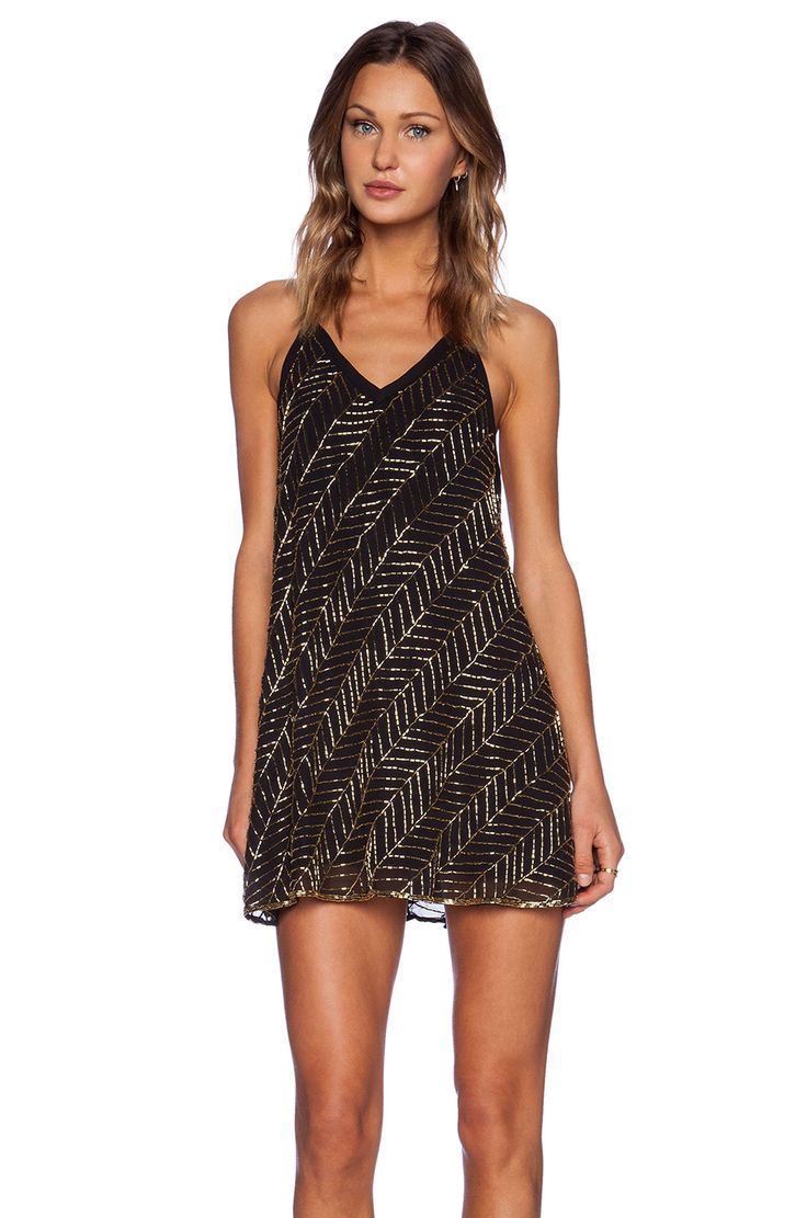 NBD Beaded Envy Dress Black in Black | REVOLVE
