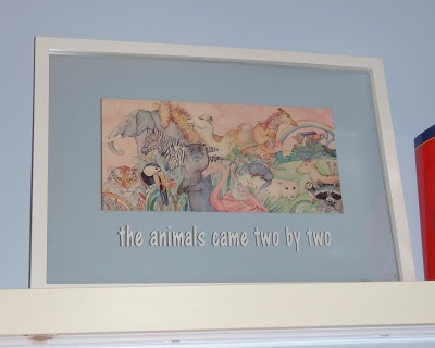Noah's Arc Nursery decor, the animals came two by two