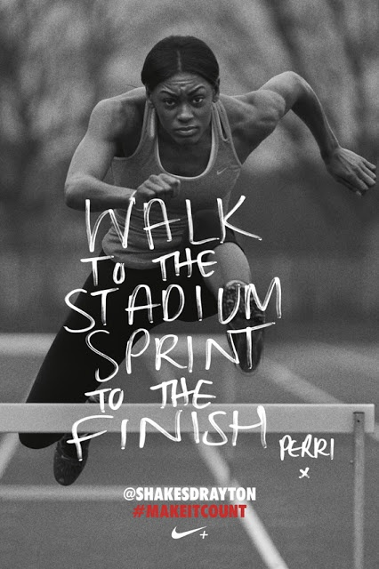 Walk to the stadium sprint to the finish #Publicidad