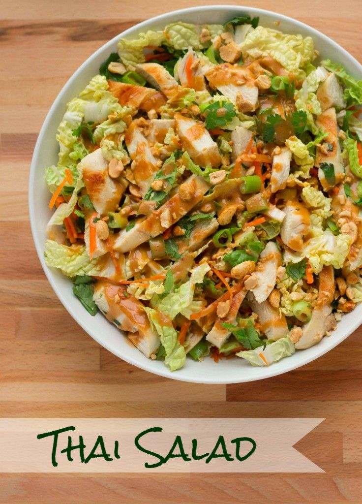 Grilled Chicken Thai Salad with a Spicy Peanut Dressing » The Table