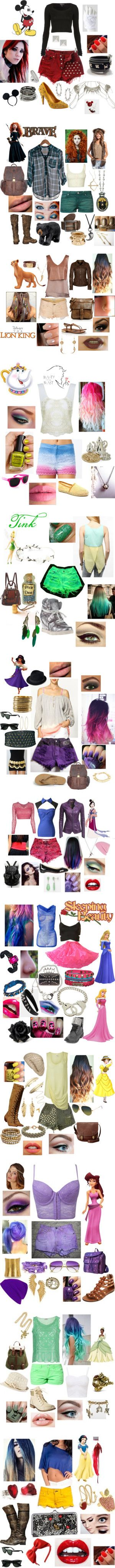 """Punk Rock Disney"" by casey-carpenter on Polyvore Merida is sooooo awesome <3"