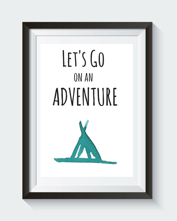 Let's go on an Adventure - Instant Digital Download Nursery Wall Art Print by SnowpeaDesign on Etsy