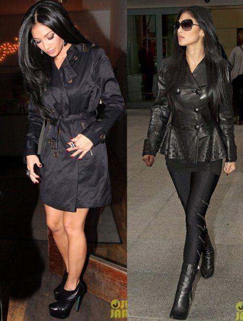 Nicole Scherzinger Ethnicity   Mais tarde, Nicole apareceu usando somente um trench coat preto com ...