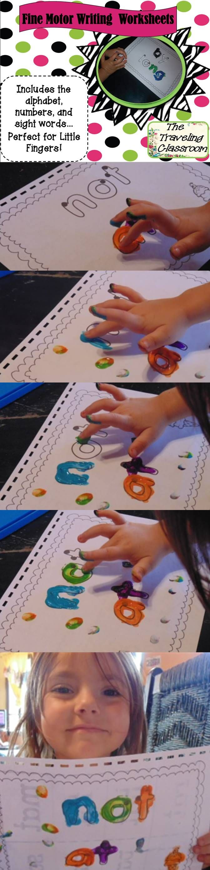 ABC, 123, 100 party, and Sight Words Worksheets for Activity Centers and More! You could use them with play doe, finger-painting, coloring, or just laminate them and use dry erase markers!   Super fun for those little fingers they fit perfectly for tracing!  $