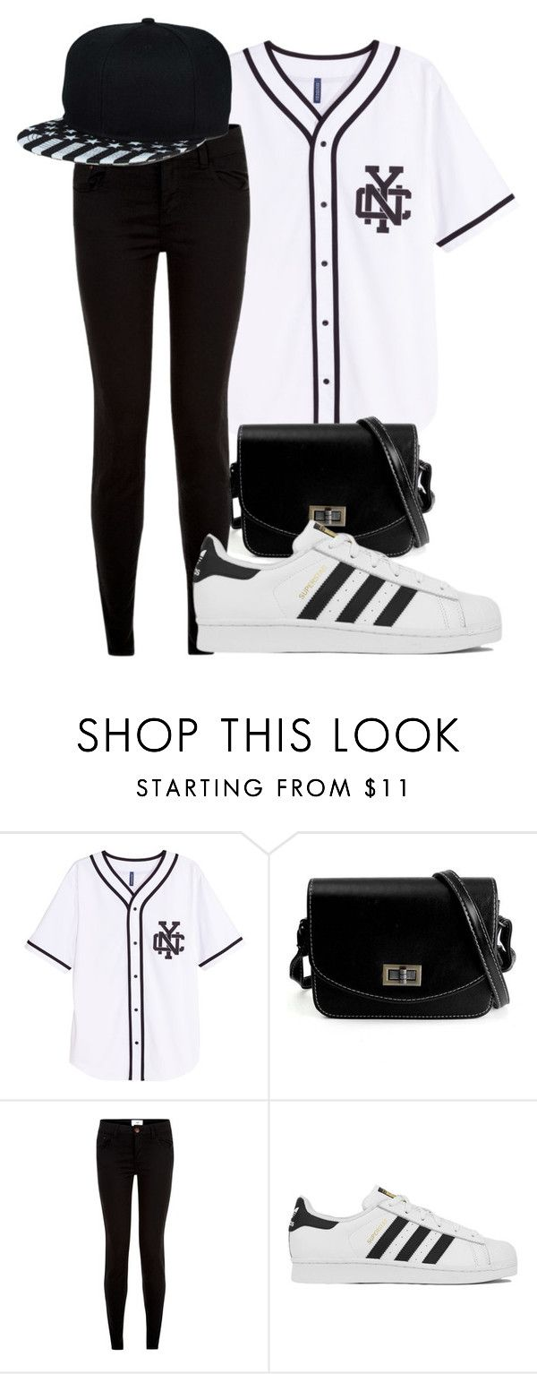 """Baseball Jersey"" by forever-inspired ❤ liked on Polyvore featuring adidas"