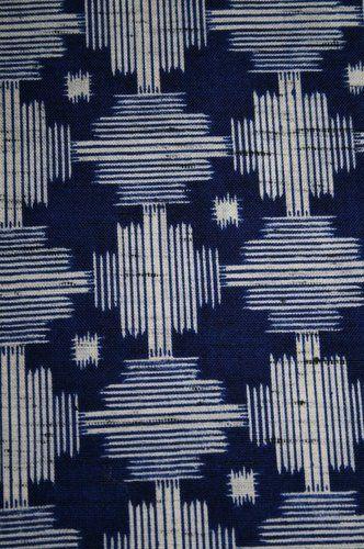 "Vintage Japanese Wool Mix Modernist Print Kimono Fabric Patchwork Quilt 63"""