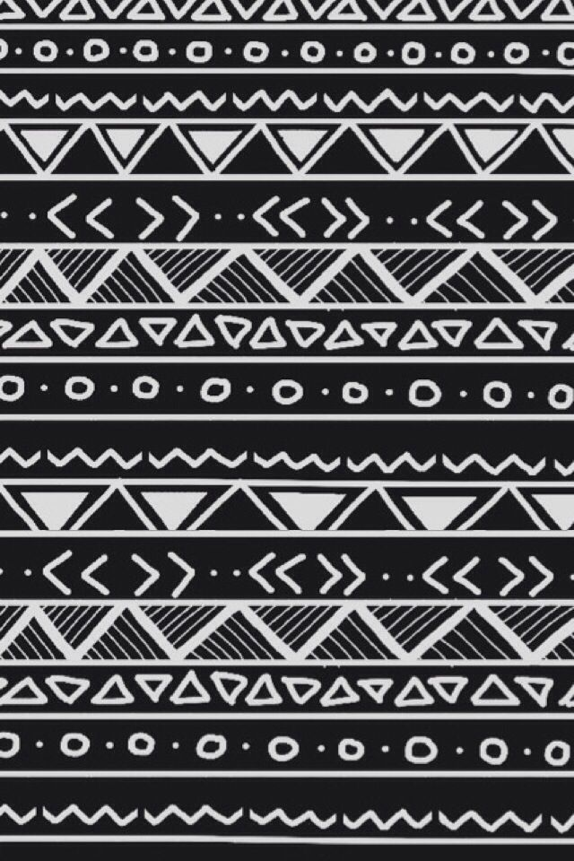 Black and white tribal iphone wallpaper | tribal patterns | Pinterest ...