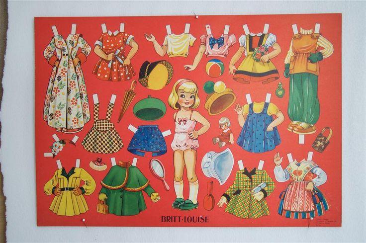 Söta BRITT-LOUISE helt ark från 50-talet på Tradera.com - Klippdockor  