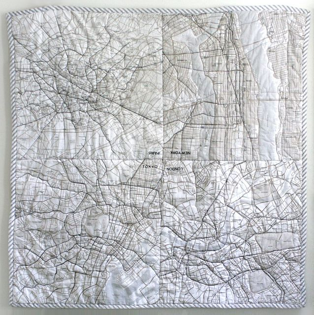 the map quilt. I think I need to work out a way to make a version of this that a) is meaningful to me and b) is not about 8000 hours beyond my current skill level. WIll require some thought.
