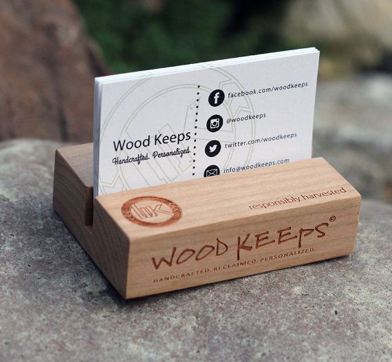 Customized BUSINESS CARD HOLDER by WOODKEEPS on Etsy