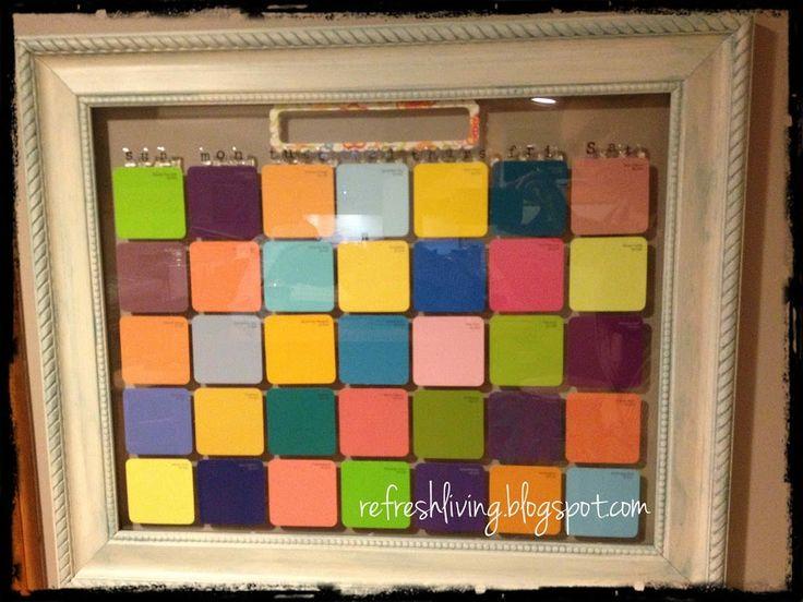 Best 25+ Paint swatch calendar ideas on Pinterest Paint chip - sample budget calendar