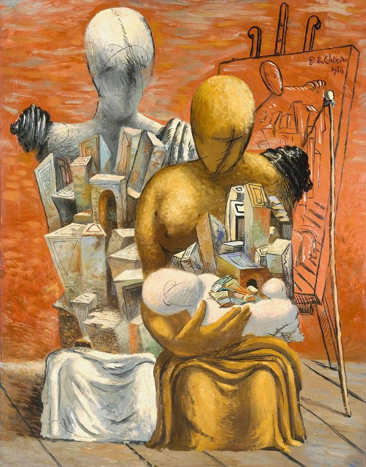 Giorgio de Chirico (1888‑1978) | The Painter's Family / La Famille du peintre, 1926, oil on canvas, Tate, london. Purchased 1951
