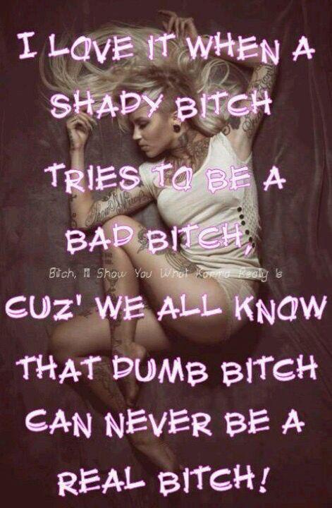 Dem shady dumb dumb bitches..aka hood Rats!