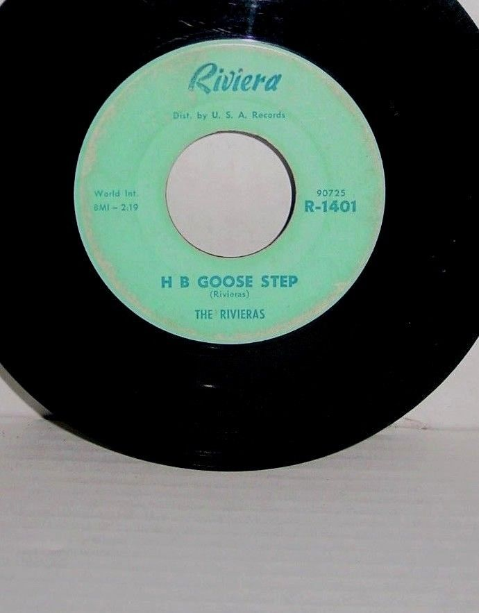 1960's The Rivieras ‎– California Sun / H B Goose Step 45 Record  R-1401 90723 #JazzRock